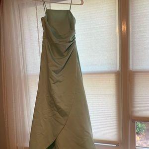 mint david's bridal dress